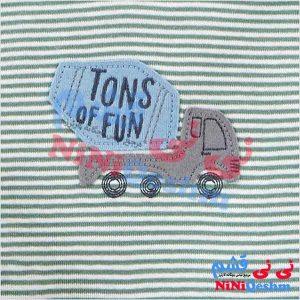 لباس سیسمونی نوزادی سه تکه کارترز پسرانه مدل کامیون